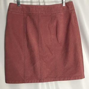 Ann Taylor Dusty Rose Pink Coduroy A line skirt